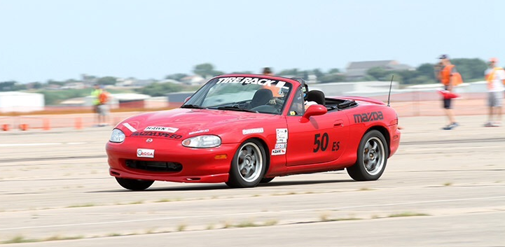 Felipe and his Miata in action at the 2015 SCCA Solo Nationals