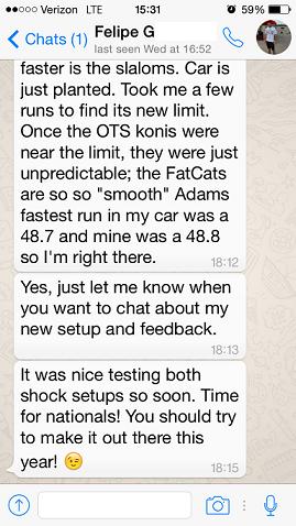Felipe's initial feedback part 2
